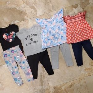 Girls 18 month matching set lot tops and leggings